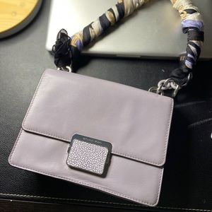 MK elegant Lavender Purse. Comes with the scarf
